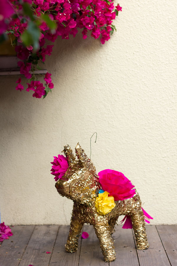 Easily Entertained - Pinata DIY Gilded Paper Flower Pinata