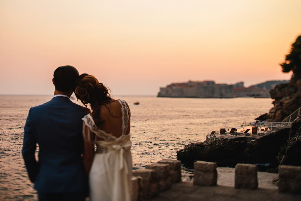 Destination wedding by Dubrovnik wedding photographer