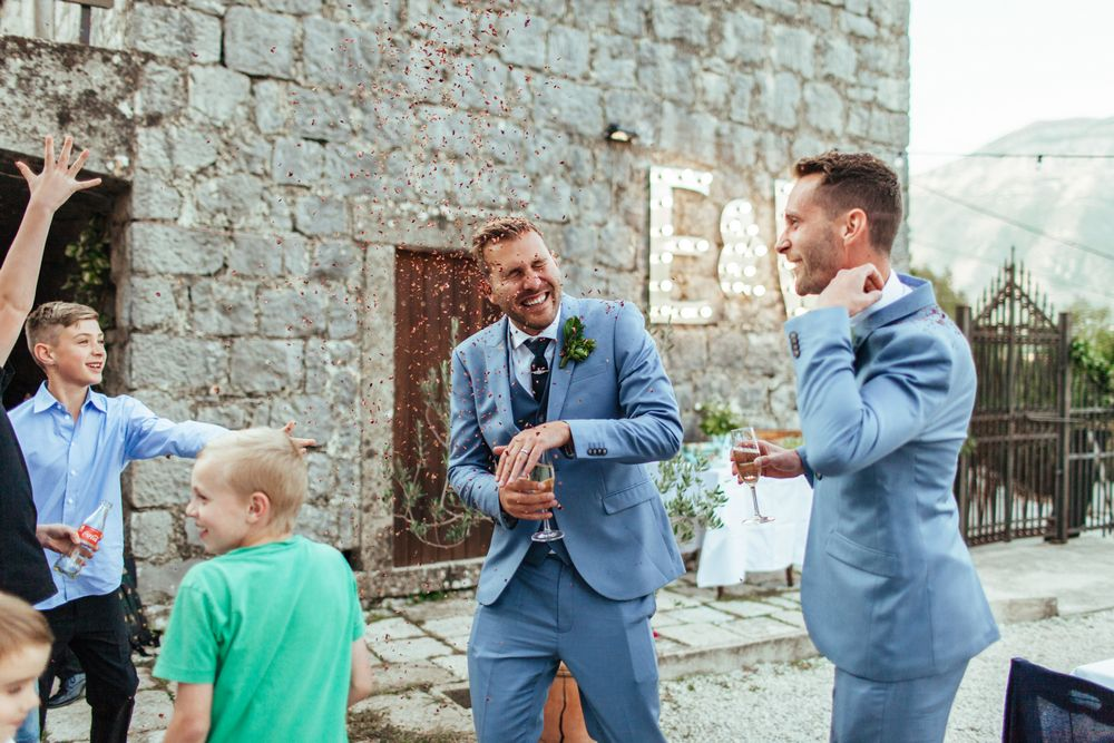 Gay destination wedding in Dubrovnik, Croatia - Wedding Reception entrance