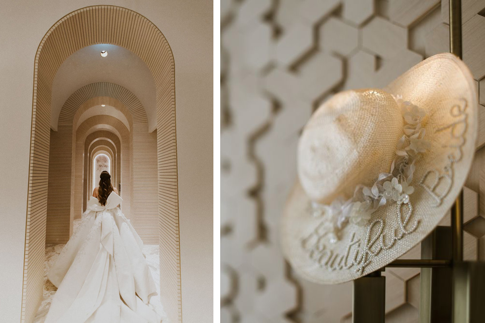 Dubai wedding dresses designed by Mark Bumgarner captured by Dubai wedding photographer and videographer