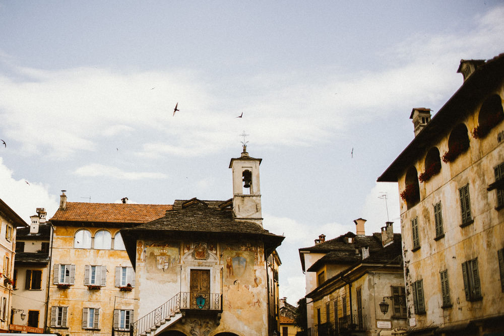 A tiny magic village Orta San Giulio captured by © wedding photographer Lake Como