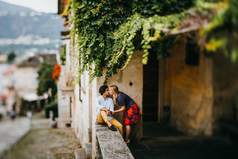 Romantic couple session at Orta San Giulio - Lago d'Orta