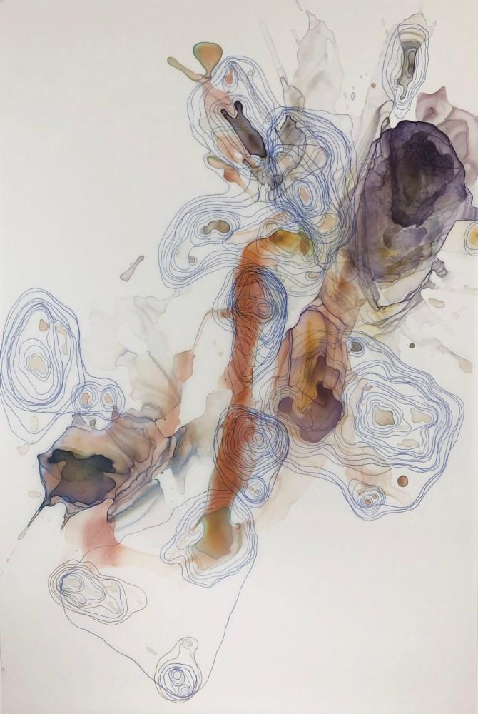 Kariann Fuqua, Saturation, 2019, mixed media artwork, studioELL FLATFILE