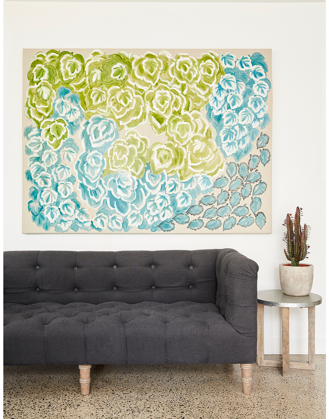 Green Wall stretched