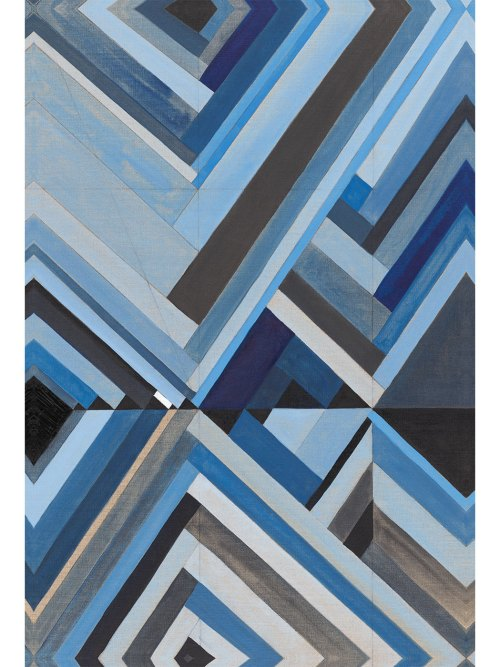 Blue Diamonds Giclee print