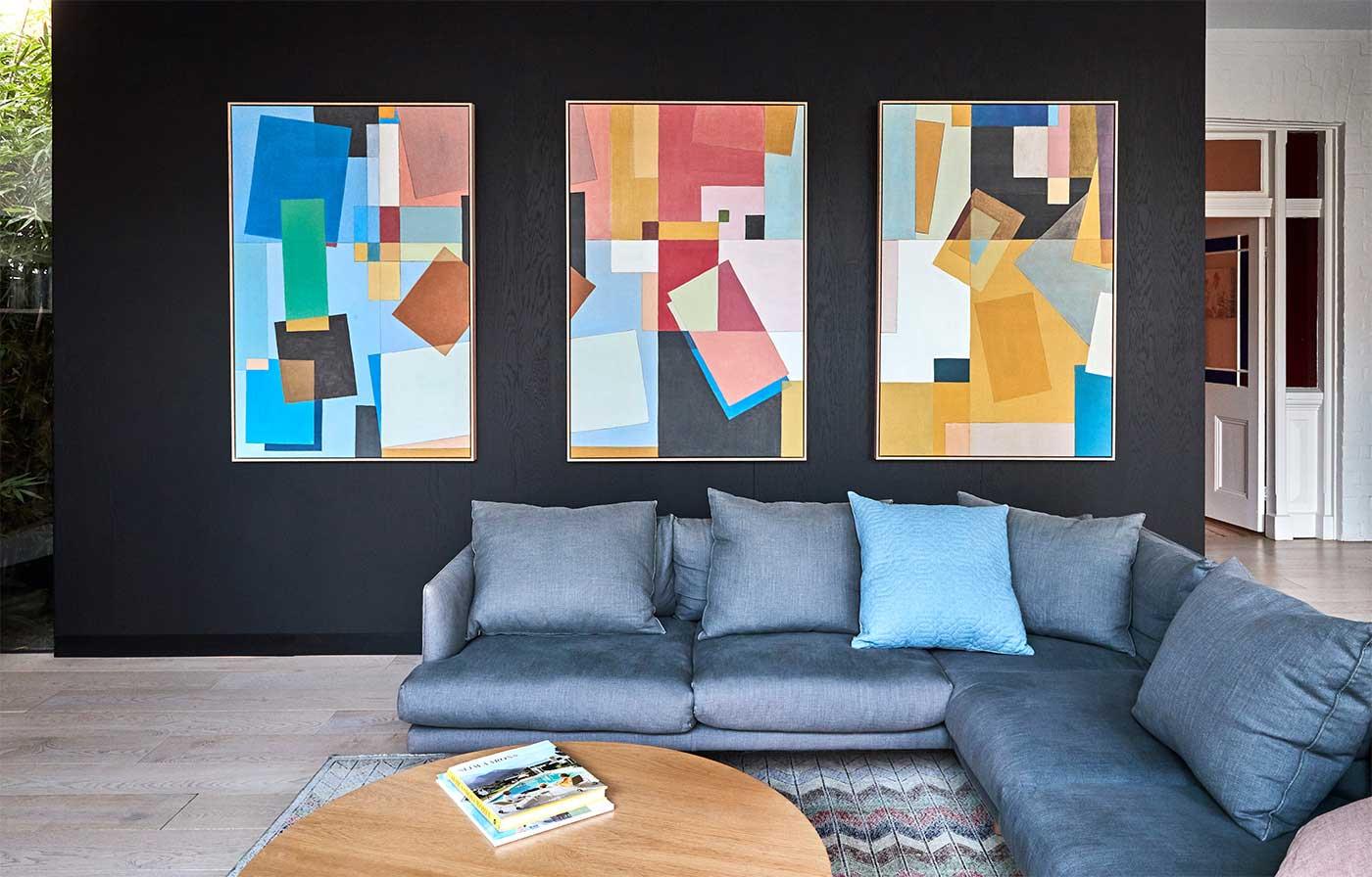 """Colour Play"" trio Art Prints on Canvas"