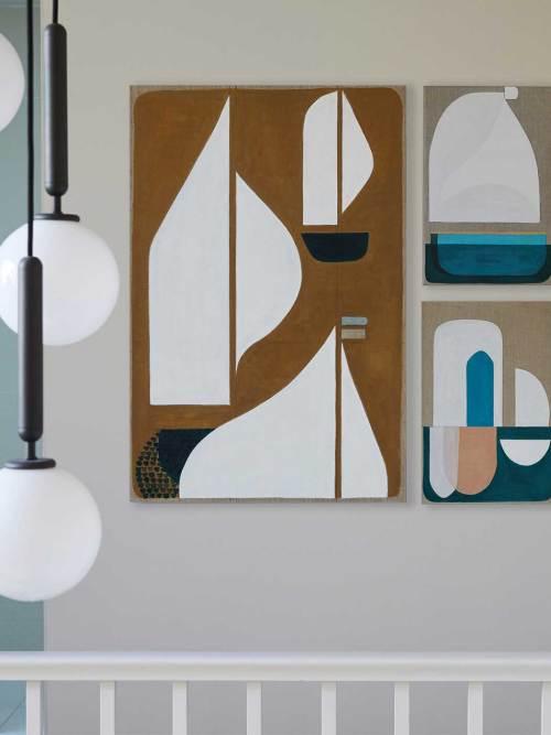 Original abstract artwork Ochre Sea