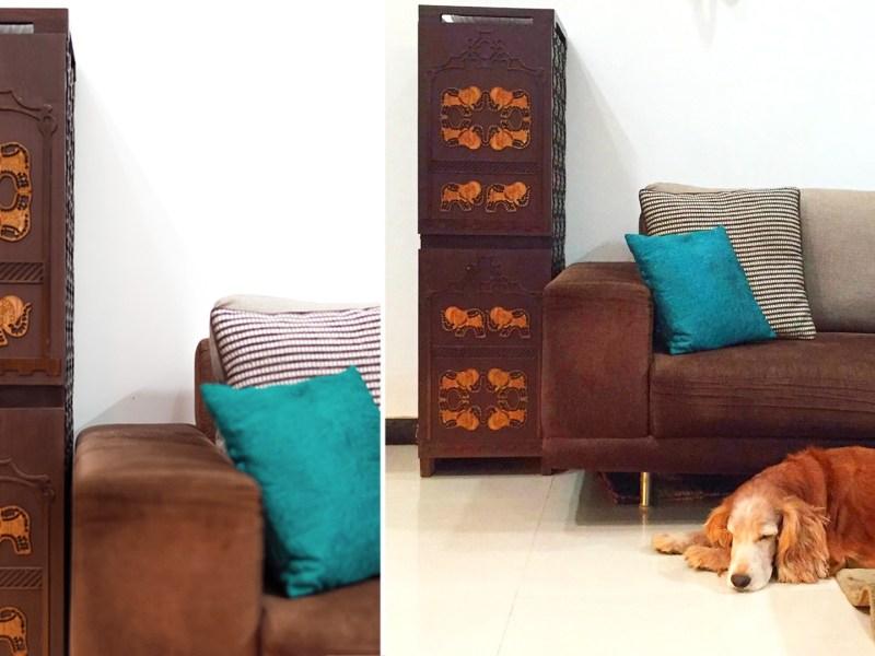Living rooom interior design, Mumbai, India