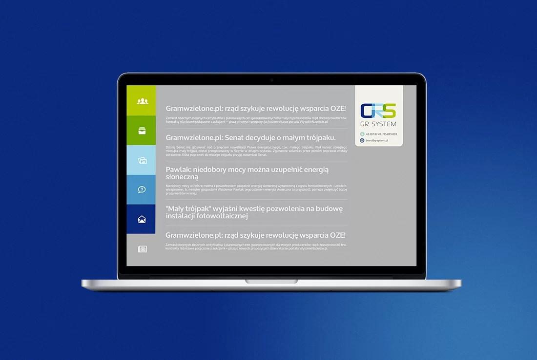 strona internetowa projekt