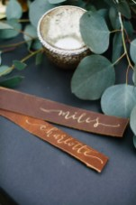 Leather strips : http://ruffledblog.com/luxe-northwoods-wedding-inspiration/