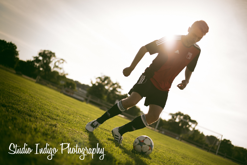 Verona High School student and soccer player Alex photographed running through some individual soccer drills.  We were trying to capture some cool motion and incorporate flare into the portrait.  Used Alienskin Exposure 7 Cinema Jaws effect to warm up the image but the flare was captured in camera.