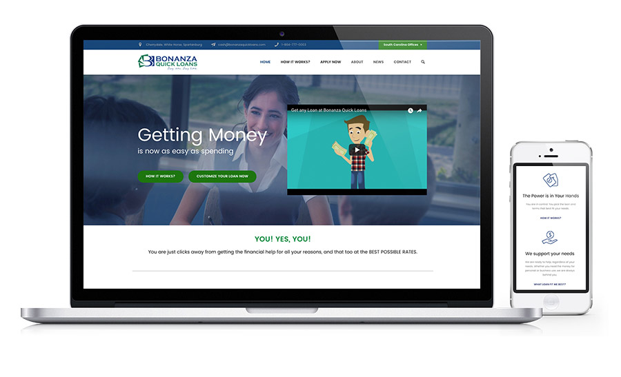 Bonanza Quick Loans - Personal and Title Loans Website