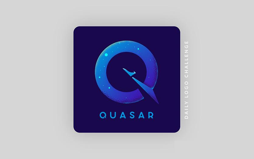 Daily logo challenge: rocket logo + Quasar