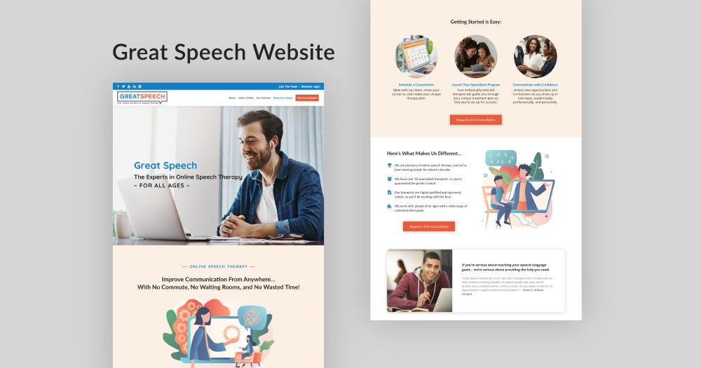 Great Speech website design