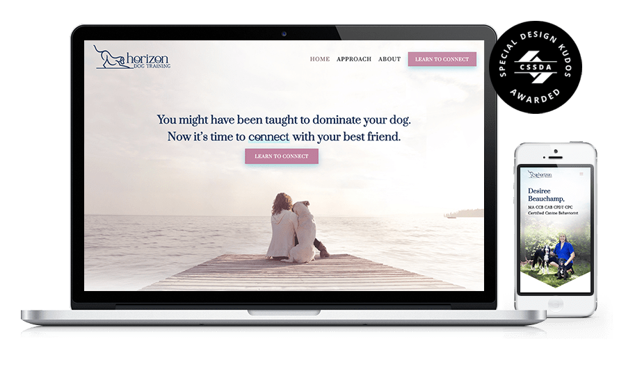 Horizon Dog Training Website - Special Kudos Award CSSDA