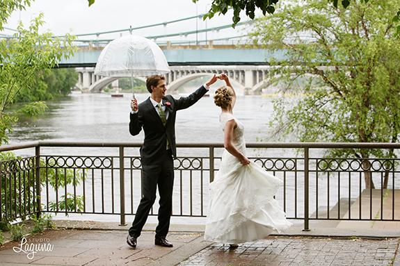 Stone Arch bridge, dancing, Hennepin, wedding photography