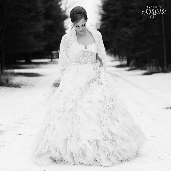 A winter styled shoot in Minneapolis with a Cinderella theme