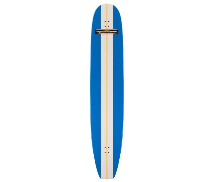 "HAMBOARDS Classic 74"" Surfskate Longboard Blue White"