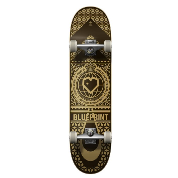 """Blueprint Home Heart Skateboard 8"""" V2 black"""