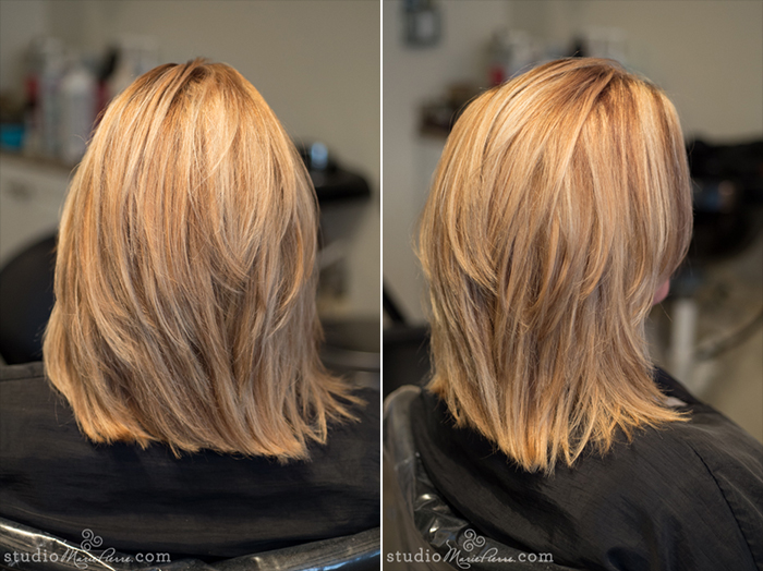 Taped Hair Extensions Before After Photos Studio Marie