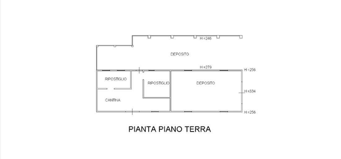 Planimetria Subalterno Deposito