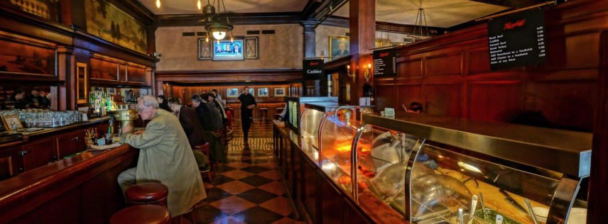 The sandwich case at the main bar