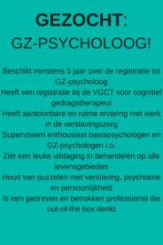 Afb bij BLOG GZ-psycholoog gezocht! door Studio Mindful