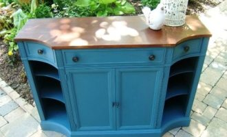 "Painted Buffet/Secretary ""Georgia on My Mind"""