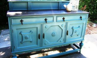 "Jacobean Painted Buffet ""Tannis"""