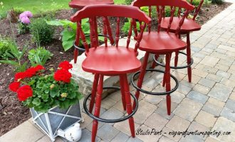"Painted Bar Chairs for ""Rosemary"""