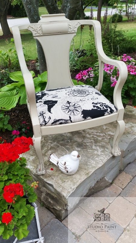 Victorian shabby painted chair