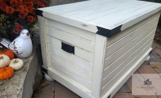 "Painted Old White Chest ""Kelly's Toybox"""
