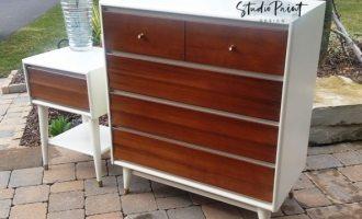 """Mid Century Modern Dresser Set """"Fisherville"""""""
