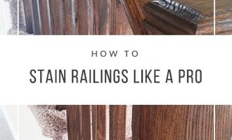 How to Stain Railings like a Pro
