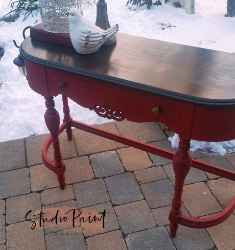 Emperor's Silk painted sofa table desk