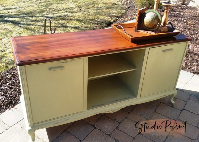 painted TV media console