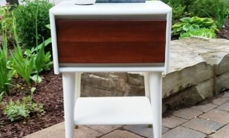 "Mid Century Modern Bedside Table ""Fisherville"""
