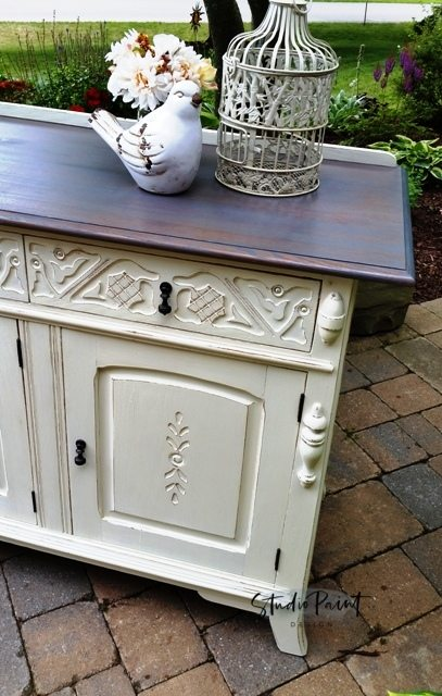 painted farmhouse buffet sideboard