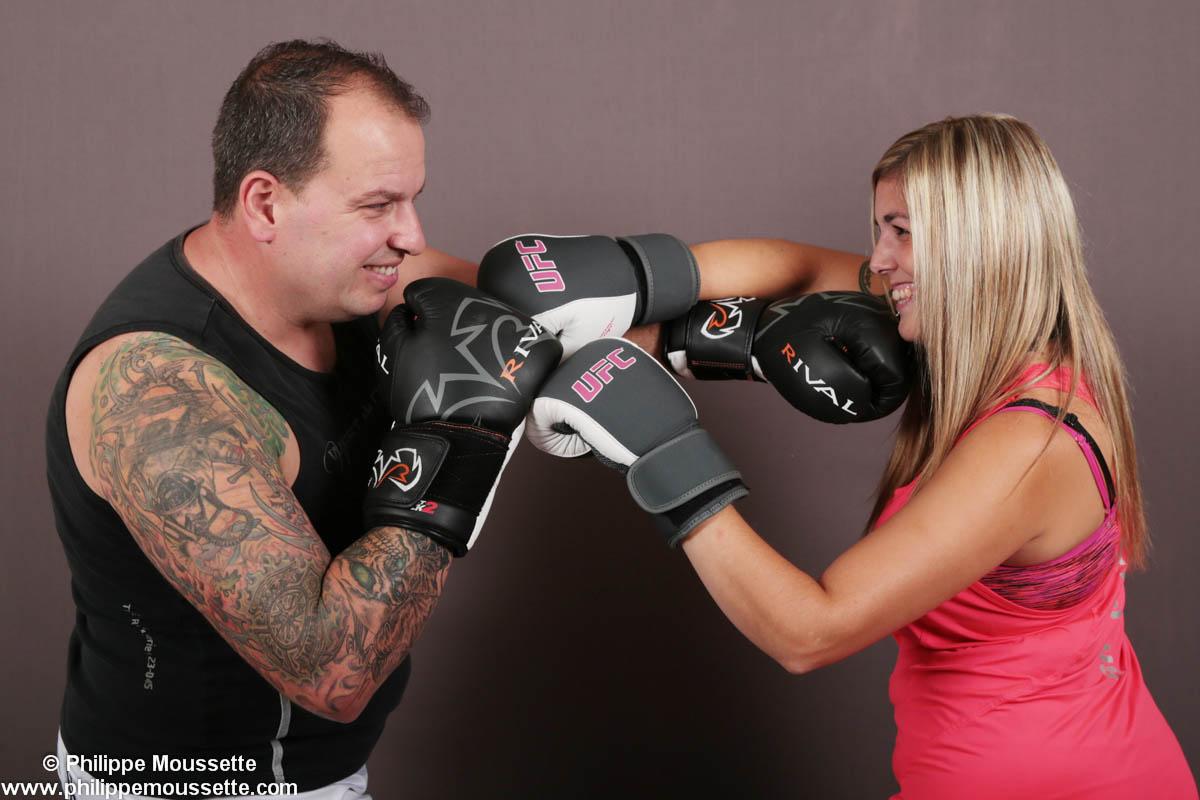 Couple qui boxe