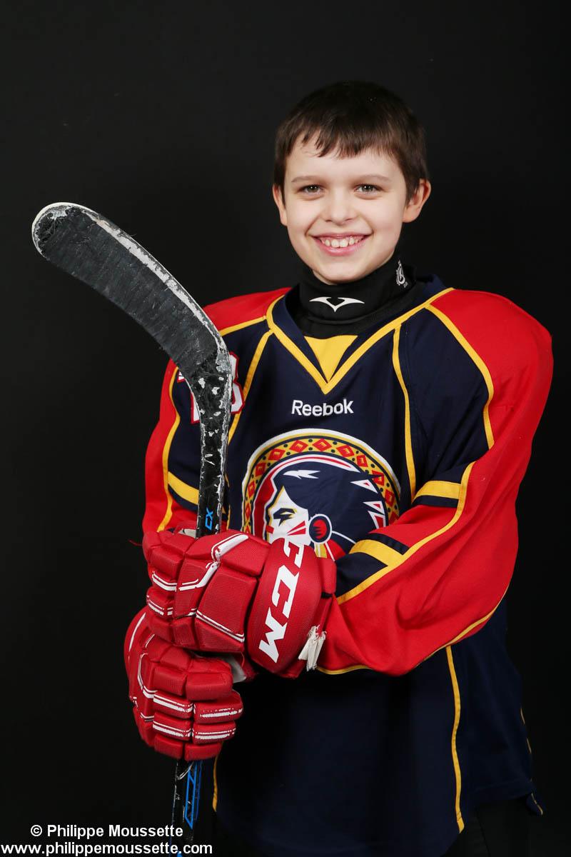 Hockeyeur avec équipement