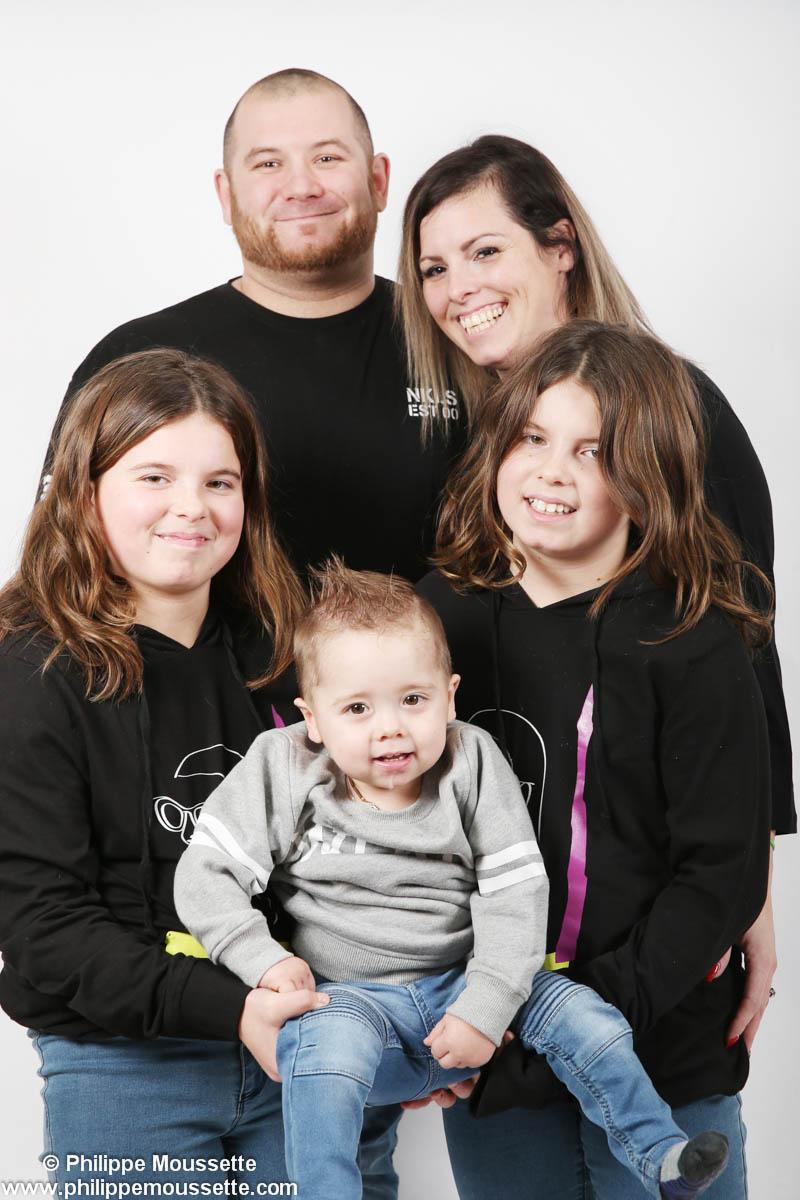 Famille de trois enfants
