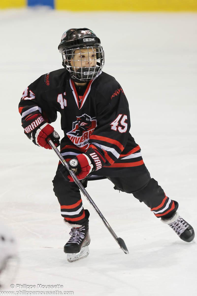 Joueur de hockey numéro 45
