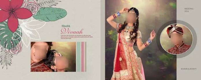 Indian Wedding & Engagement Album DM Sheets