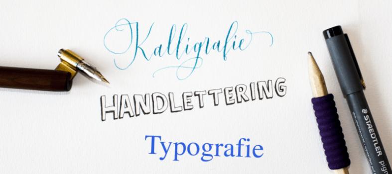 Verschil tussen kalligrafie lettering typografie