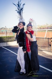 Olga Sanchez Fashion Designs worn by Whitney and Tatiana were head turners at 2015 Bing Crosby Opening Day at Del Mar