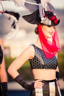 Nikki Smith styled by Deena and Studio Savvy at 2015 Bing Crosby Opening Day at Del Mar
