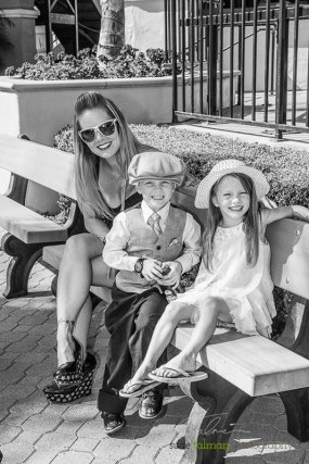 Even the kids love to get dressed up for the 2015 Bing Crosby Opening Day at Del Mar.