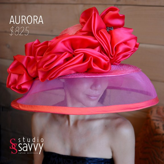 Aurora Woman's Hat. Come out for the Studio Savvy Salon Trunk Show-Hat Sale, July 13th, 2016
