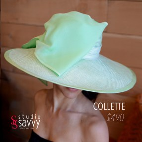 Collette Woman's Hat. Come out for the Studio Savvy Salon Trunk Show-Hat Sale, July 13th, 2016