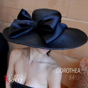 Dorothea Woman's Hat. Come out for the Studio Savvy Salon Trunk Show-Hat Sale, July 13th, 2016